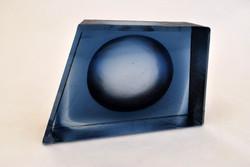 Refraction - indigo, glass sculpture