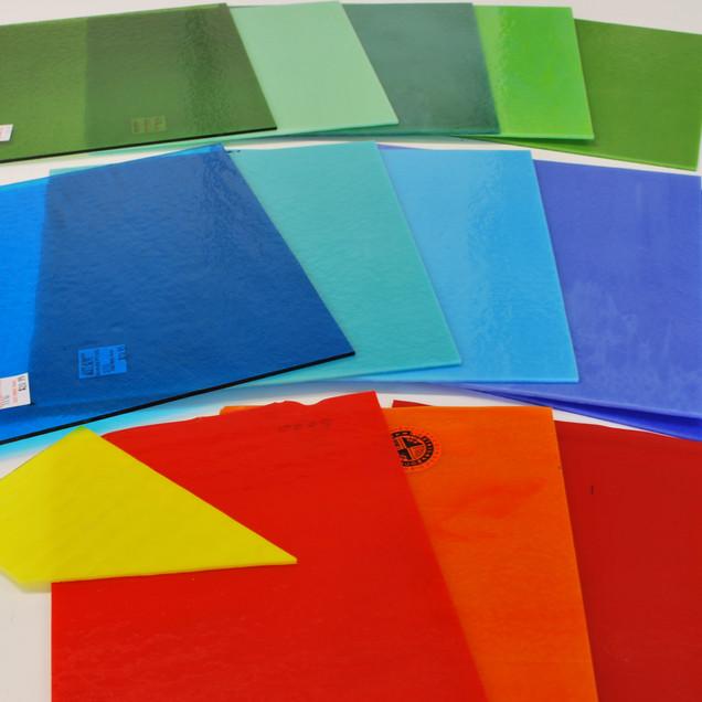 Bullseye glass sheets