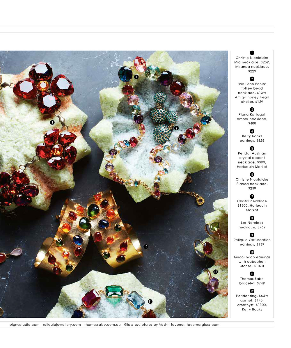The Weekend Australian Magazine features pate de verre sculpture by Taverner Glass