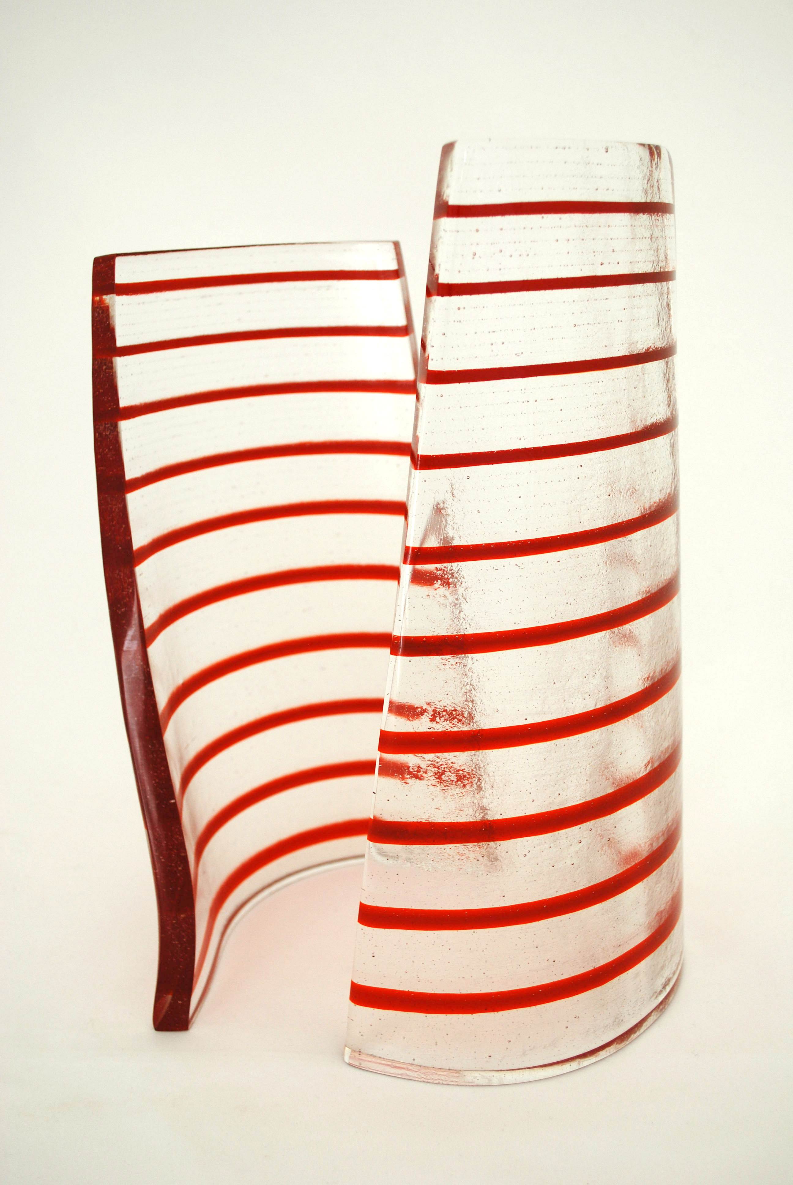 Dancers - pimento, glass sculpture