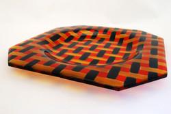 Plate in basket weave design