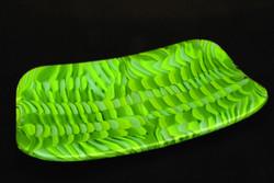 Platter, marbled green