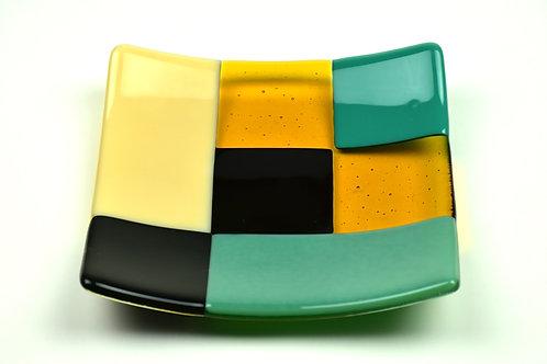Small square glass plate, Modernist design