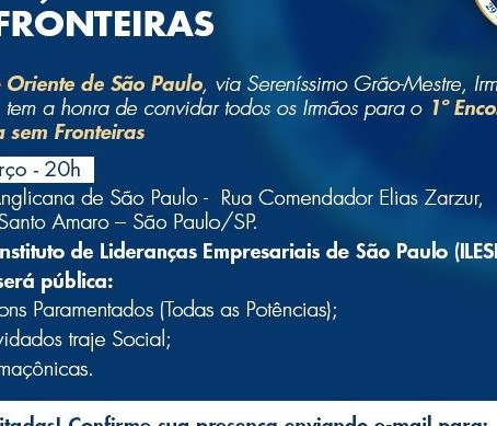 1º ENCONTRO DA MAÇONARIA SEM FRONTEIRAS