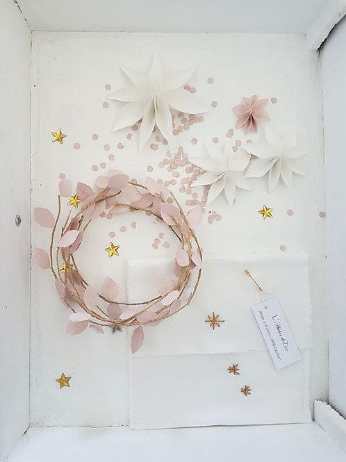 Brindilles décoratives rose poudré