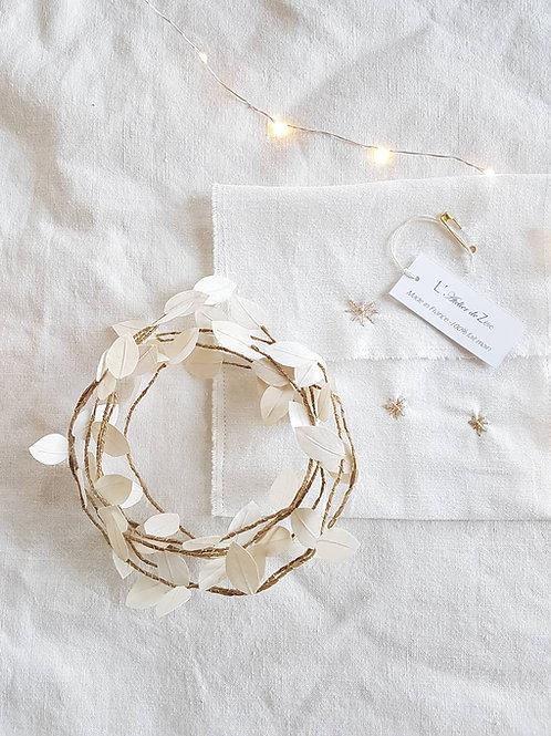 Brindilles décoratives coloris blanc cassé