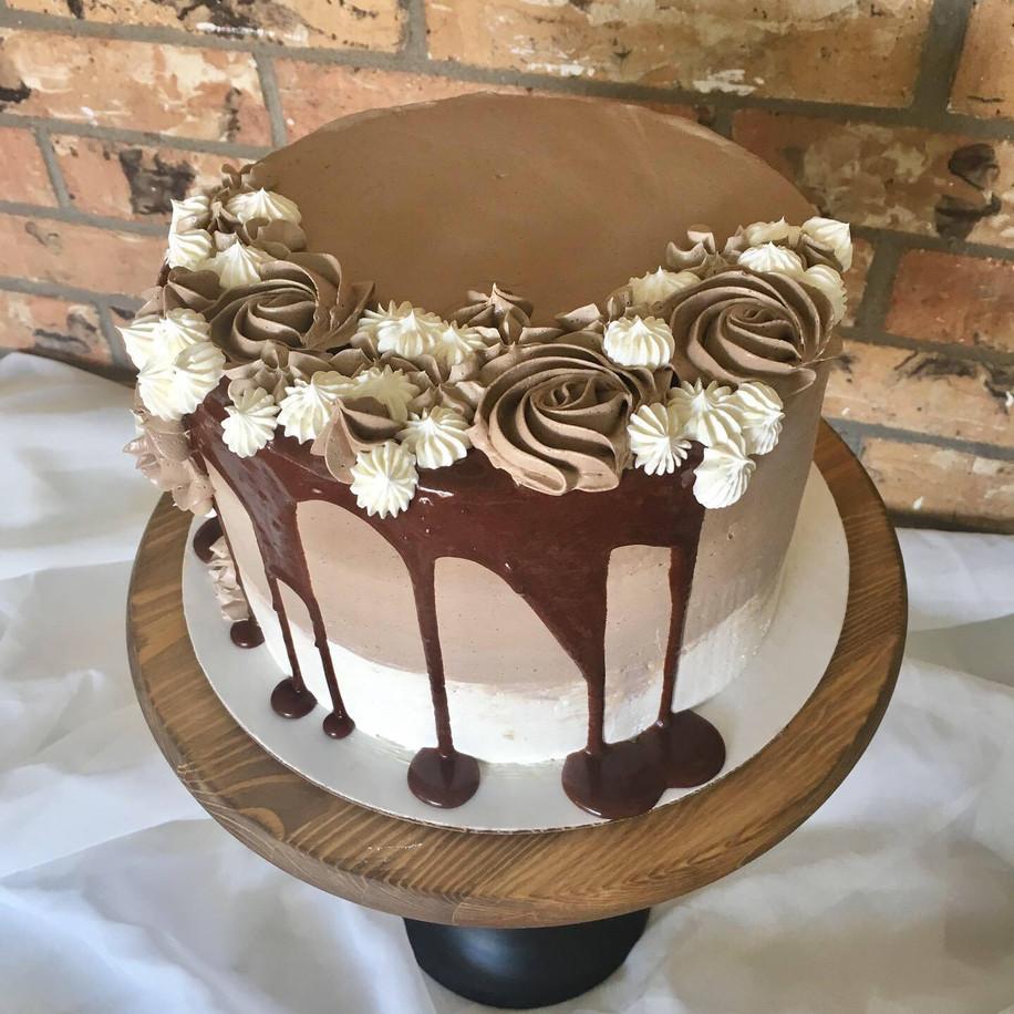 Coco Mocha Buttercream Cake