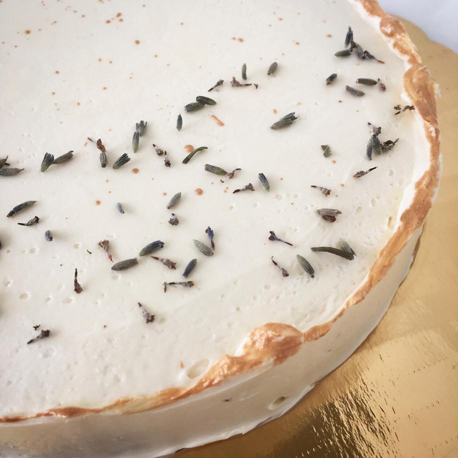 Malted Lavender Buttercream on Dark Choc