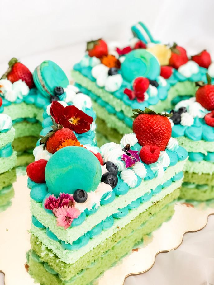 Pistachio Number Cake