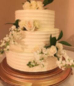 Elegant wedding cake in Las Cruces