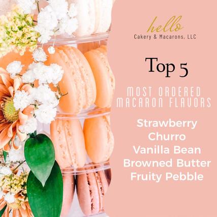 Top 5 Macaron Flavors