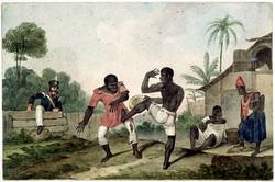 Painting depicting Capoeira