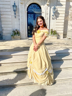 Belle Inspired Character (pale yellow dress)