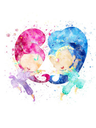 Shimmer and Shine Inspired Characters