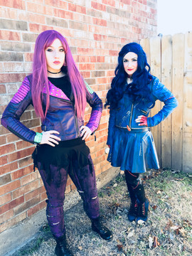 Mal and Evie Inspired Characters (Descendants 1/2)