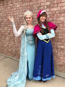 Elsa & Anna Inspired Characters - Lubbock