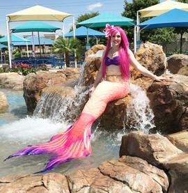 Pink Swimming Mermaid