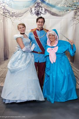 Cinderella, Prince, & Godmother