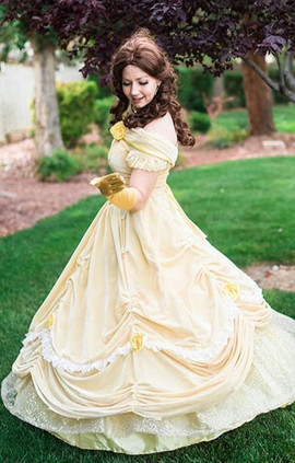 Belle Inspired - Pale Yellow Dress