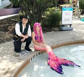 Swimming Pink Mermaid & Pirate