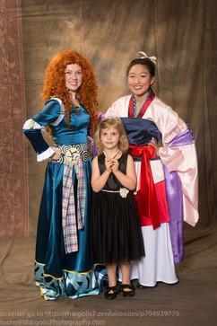 Mulan and Merida Inspired Characters