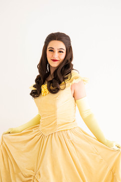 Belle Inspired Character - Pale Yellow Dress