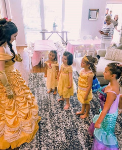 Belle Inspired Character - Gold Dress