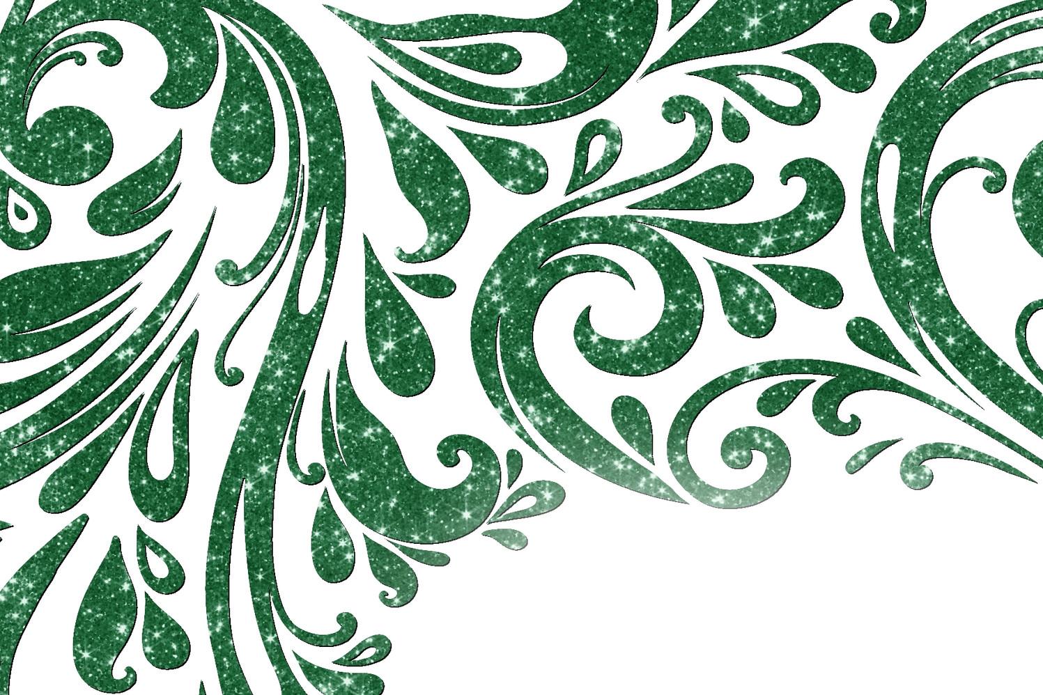 Vert émeraude foncé scintillant