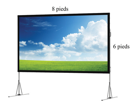 Écran de projection de 123'' de diagonale ! et nouveau projecteur 1080P