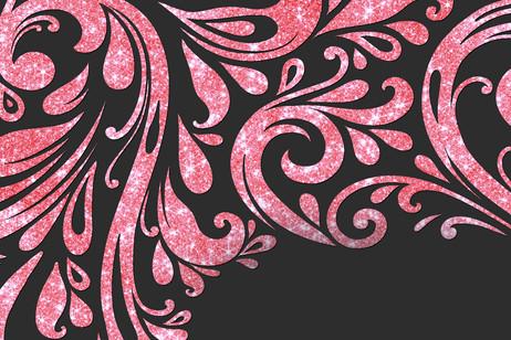 Rouge rubis pale scintillant