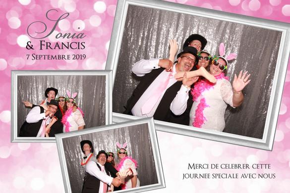 Montage photobooth du mariage de Sonia &