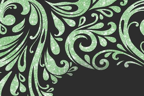 Vert tamisé scintillant