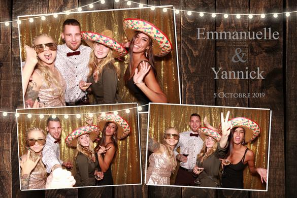 Montage Photobooth mariage d'Emmanuelle