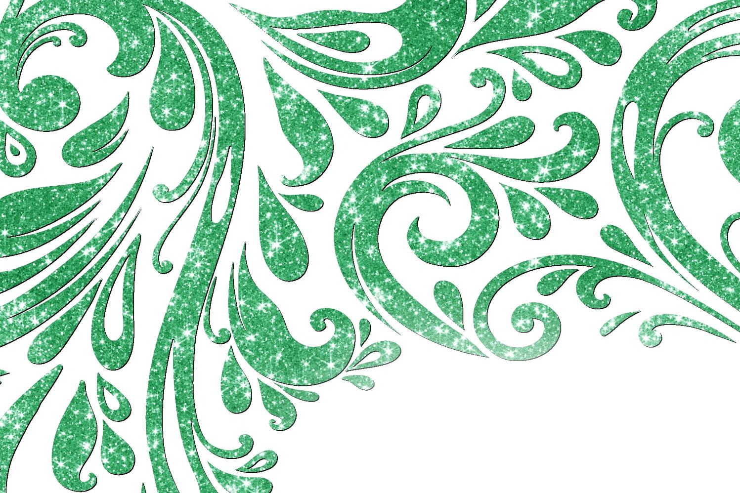 Vert émeraude scintillant