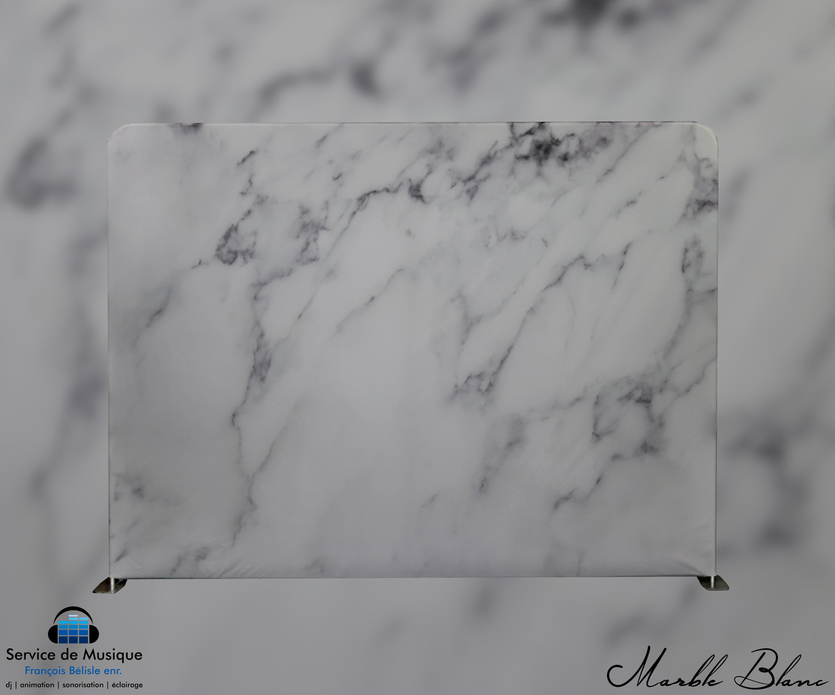 Toile Marble Blanc