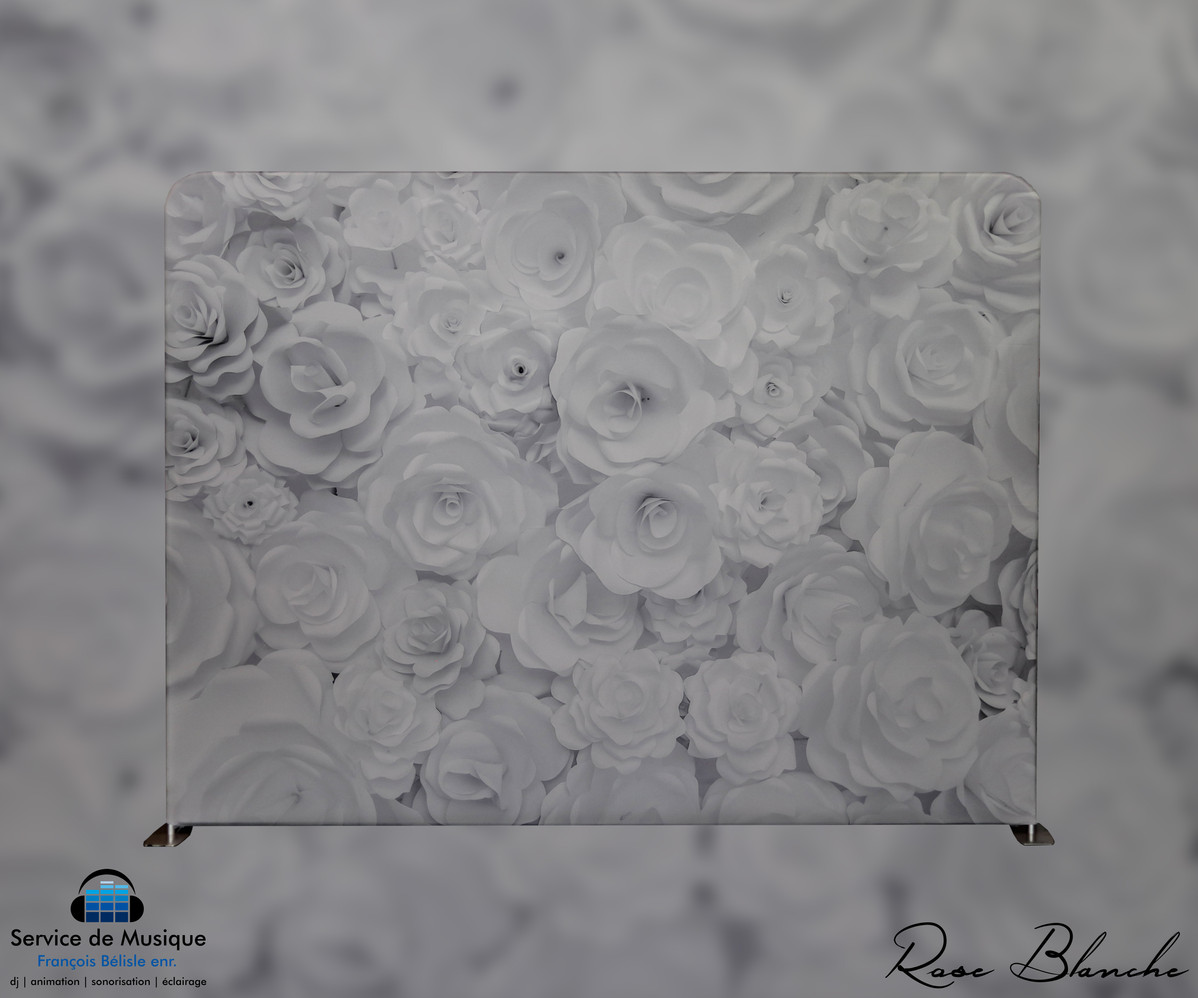 Toile Rose Blanche