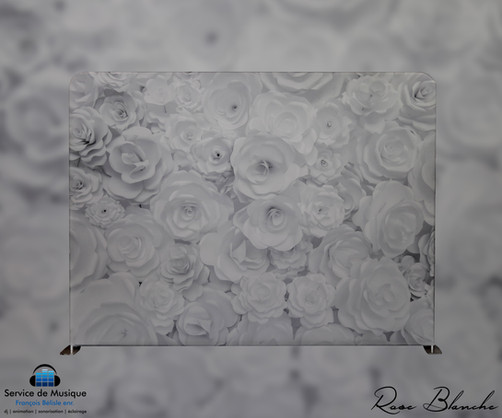 Toile Rose Blanche