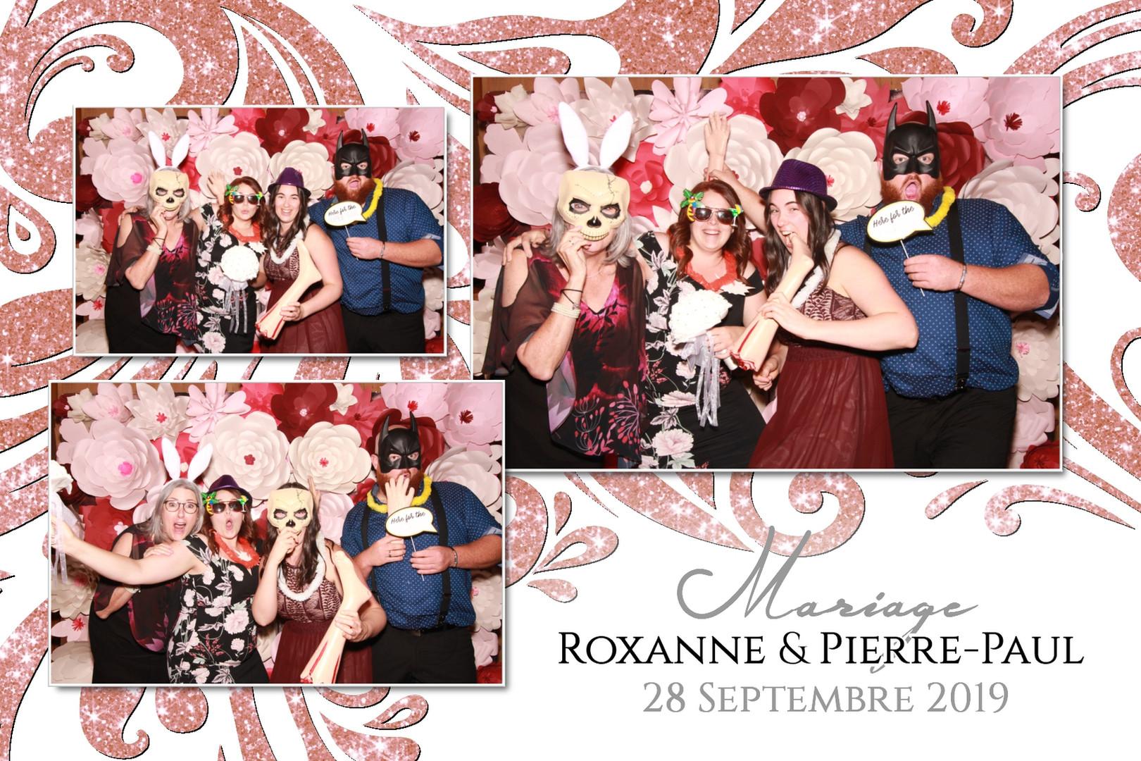 Montage Photobooth Mariage Roxanne  & Pi