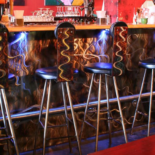 Bar Facade & Stools