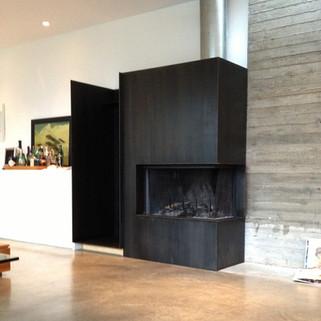 Fireplace and Log Box
