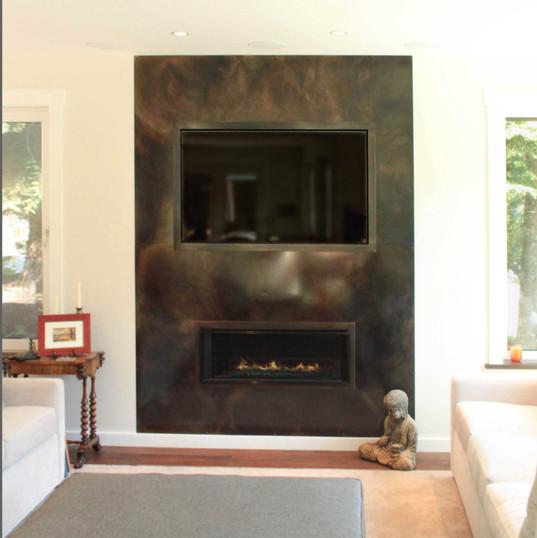 TV & Fireplace Surround