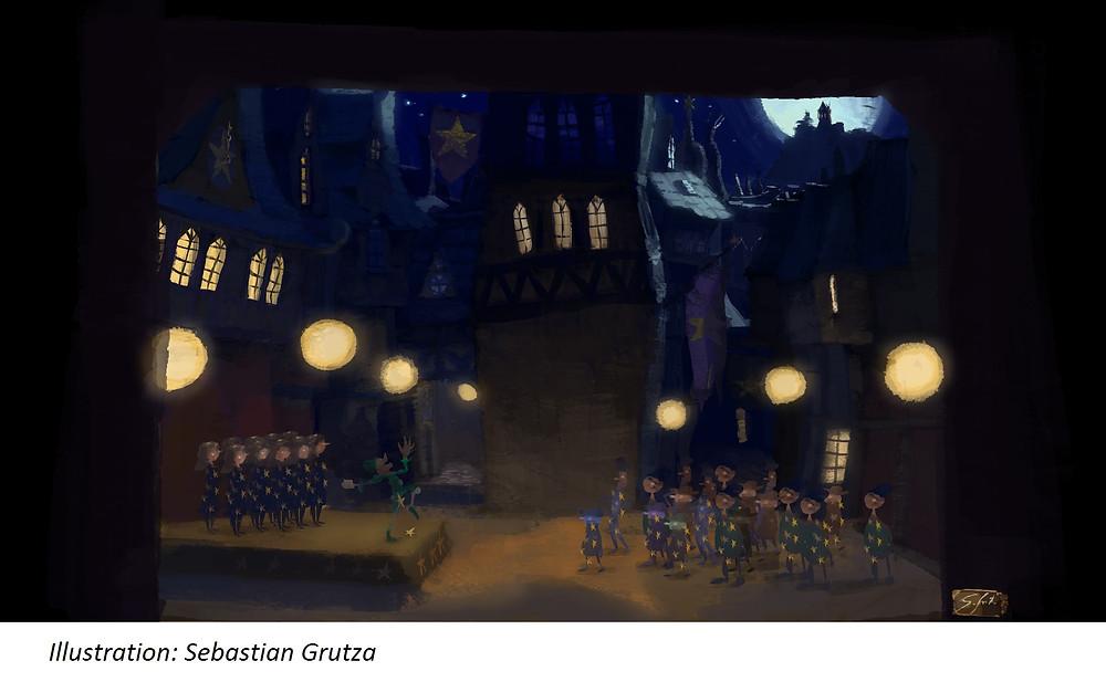 """Sebastian Grutza steuerte die ersten Skizzen für unser Musical """"Wemmicks"""" bei"""