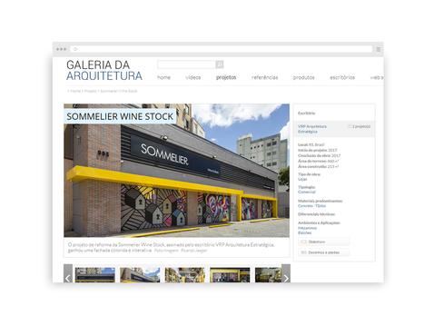 Galeria da Arquitetura | Sommerlier Winestock