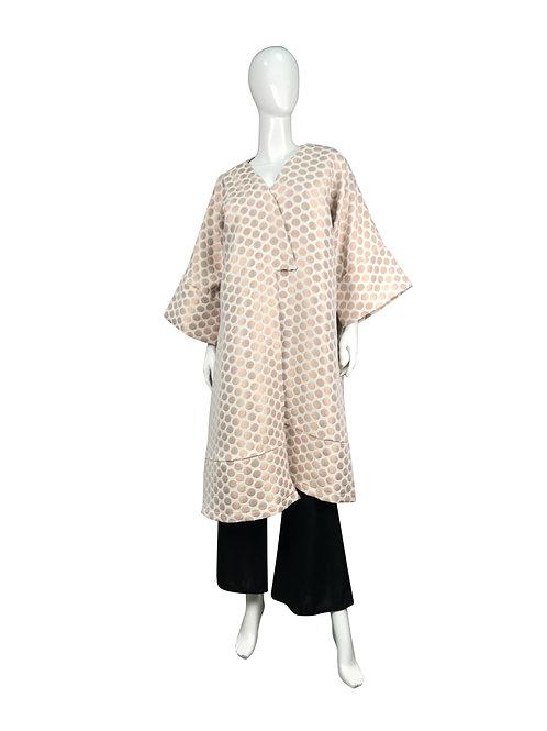 Kimono largo lunares.