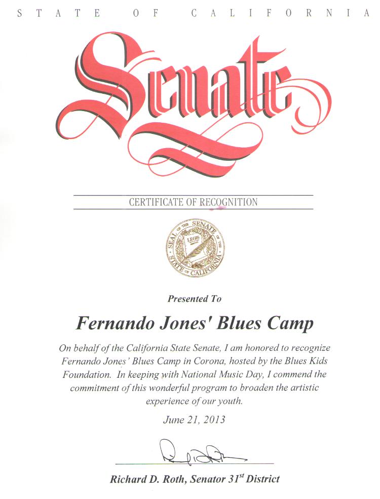 Senate Proclamation: BluesKids.com
