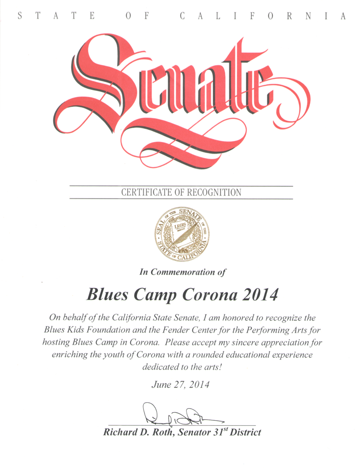 Senate Proclamation: BluesKids.com