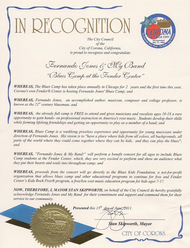 Corona Proclamation: BluesKids.com