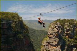 Zip lining in Oribi Gorge