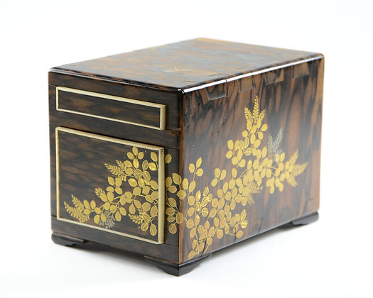 Japanese Black & White Ebony Box