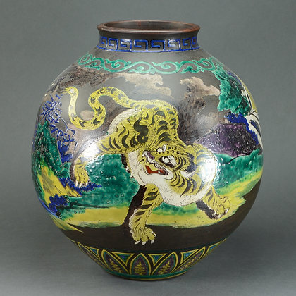 Japanese Kutani Style Large Vase